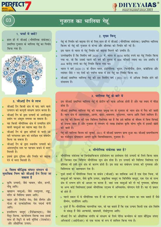 गुजरात का भालिया गेहूं (Gujarat's Bhalia Wheat)