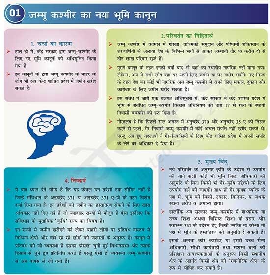 जम्मू कश्मीर का नया भूमि कानून (New Land Law of Jammu and Kashmir)