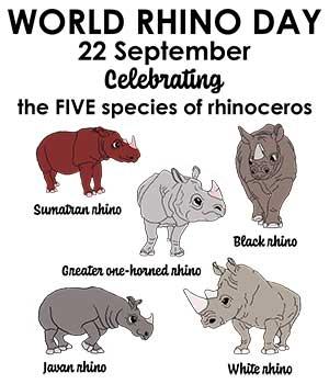 विश्व गैंडा दिवस (World Rhino Day)