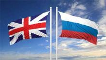 Russian and British Flag