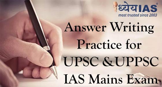 answer writing practice for upsc ias mains exam paper i essay