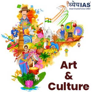 Indian Art and Culture in English Medium