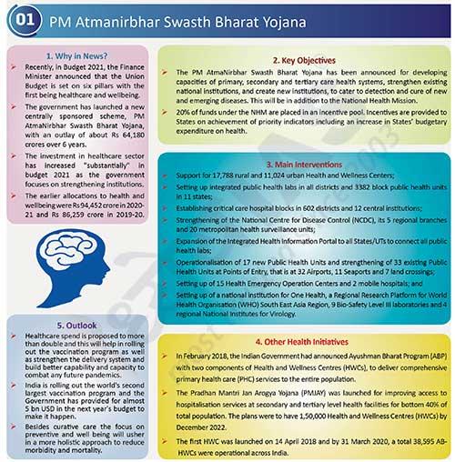 PM Atmanirbhar Swasth Bharat Yojana