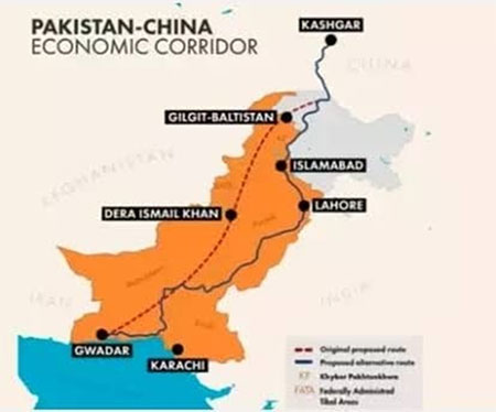 Map Pakistan China Economic Corridor